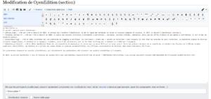 Capture d'écran du wikicode